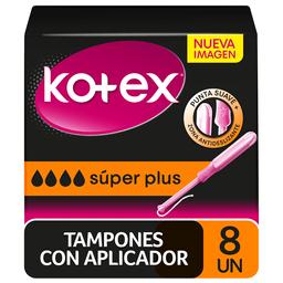 Tampón Higiénico Kotex Super Plus 8 Un