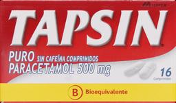 Tapsin Puro Sin Cafeína 16 Comprimidos Paracetamol 500 mg