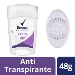 Desodorante Rexona Clinical Mujer Extra Dry en crema