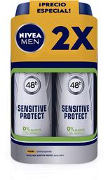 Pack Desodorante Nivea Men Sensitive Protect 48H Spray