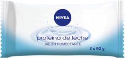 Jabon en Barra Nivea Proteína de Leche 90 g x 3