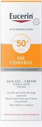 Protector Facial Eucerin Gelcr.Oil Cont.50