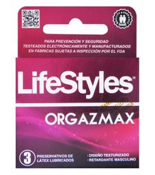 Preservativos Y Accesorios Lifestyles Orgazmax 3X