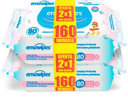 Higiene Infantil Emuwip.Toa.Hum.80X2 (2X1)