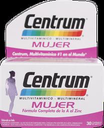 Vitaminas Centrum Mujer Com.30