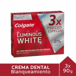 Pasta Dental Colgate Luminous White 90 g x 3