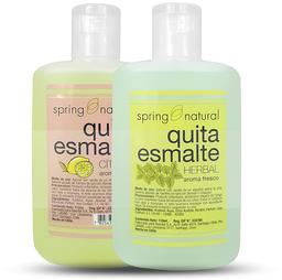 Cosmetico Uñas Quita Esmalte Spring Natural 110ml X2
