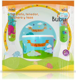 Accesorios Para Comer Infantiles Bubu Set Pla+Taz+Cuch+Ten