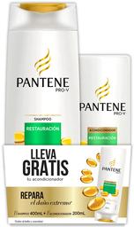 Pack Cuidado Capilar Pante.Sh.Restaur400+Ac300