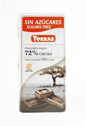 Alimentos Y Snacks Torras Choc.72% Cacao 75G