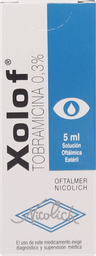 Xolof Solucion oftalmica 0,3 % 5Ml.