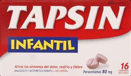 Dolor Y Fiebre Tapsin Pediatrico 16 Comprimidos 80Mg