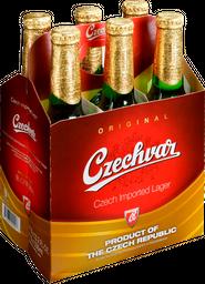 Cerveza Czechvar Original Lager Sixpack 330mL