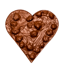 Corazon de Chocolate Leche Avellanas