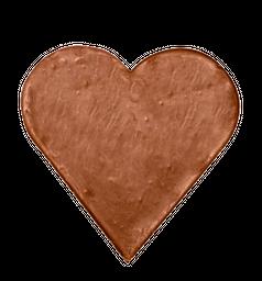 Corazon de chocolate leche sin azúcar