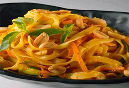 Veggie Curry Pasta Vegetales Salteados