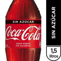 Bebida Coca Cola Sin Azucar Botella 1.5Lt