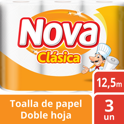 Toalla De Papel Nova Clasica, 3 U (12 M)