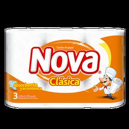 3 x Toalla Papel Nova Clasica 3 rollos 12,5 m