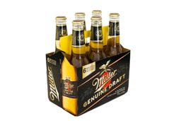 Six Pack Cerveza Miller Botella 355ml