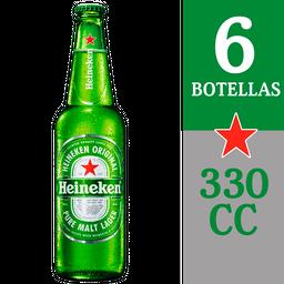 3 x Six Pack Cerveza Heineken Botella 330cc