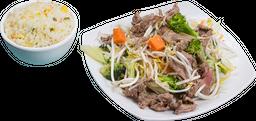 Chapsui de Carne con Arroz Chaufán