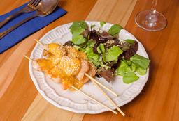 Brochetas de Camarón con Salsa de Mango