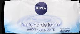 Jabon Nivea 3Un 90Gr C/U, Prot Leche