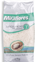 Arroz Miraflores G1 Largo Ancho 1 Kg