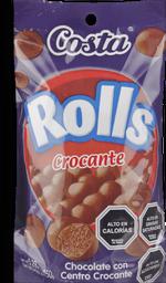 Chocolate Costa Rolls Crocante 150 g