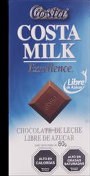 Chocolate Costamilk Libre Azucar 80Gr