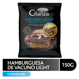 Hamburguesa Vacuno Light La Crianza 150Gr