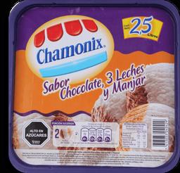 Helado Chamonix 25, Chocolate/3Leches/Manjar