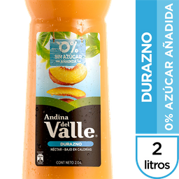 Jugo Andina Pet 2L Durazno Light