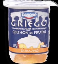 Yogurt Danone Griego, Trozos Durazno 150 g