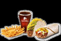 Combo Burrito Supreme + Taco Suave + papas + bebida