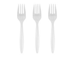 Tenedor Plastico Blanco X 36
