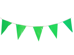Banderines Cumpleaños Liso Verde X 10