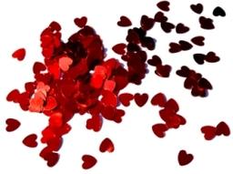 Confetti Metalico Colores Corazon