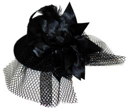 Gorrito Flor Grande Negro