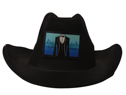 Gorro Cowboy Led Negro Novio