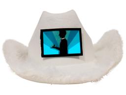 Gorro Cowboy Led Blanco Anillo