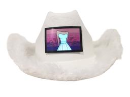 Gorro Cowboy Led Blanco Vestido