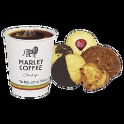 Café marley  mediano + 5 galletas clásicas