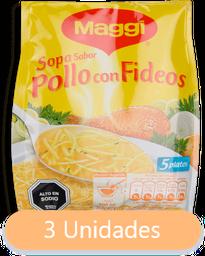 Sopa De Pollo Con Fideos Maggi, 70 G