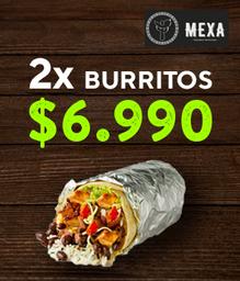 2 Burritos por $6.990