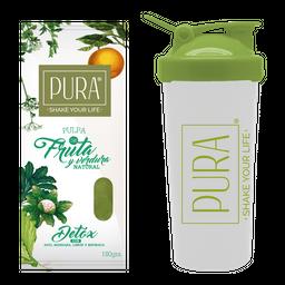 Combo PURA Detox 180g + Shaker 600 ml