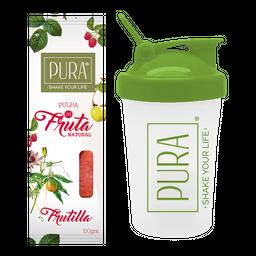 Combo PURA de Frutilla 100g + Shaker 400 ml