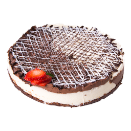Cheescake de Chocolate Blanco y Negro