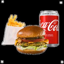 Combo Hamburguesa Vegetariana (Garbanzos)